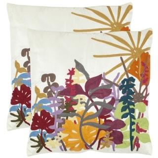 Tropics 18-inch Cream Decorative Pillows (Set of 2)