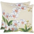 Orchid 18-inch Beige Decorative Pillows (Set of 2)