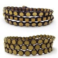 Tribal Honey Shine Brass Metal Cotton Rope Bracelet (Thailand)
