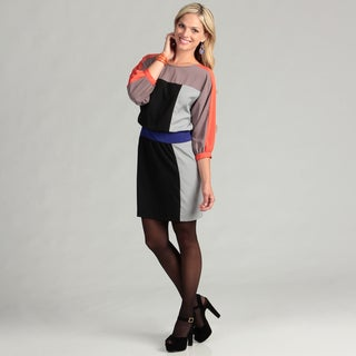 Eliza J Women's 3/4-sleeve Colorblock Dress FINAL SALE