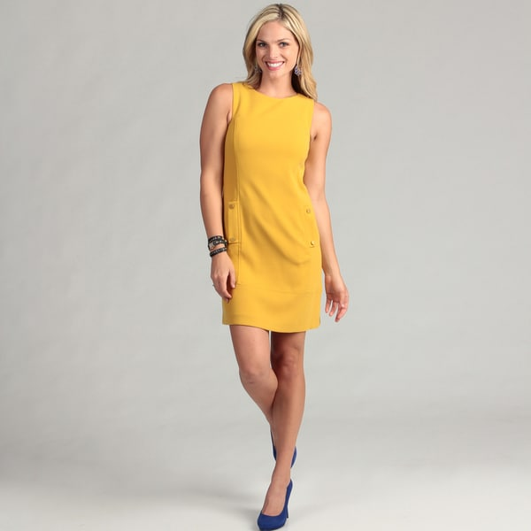 Eliza J Women's Mustard Sheath Dress