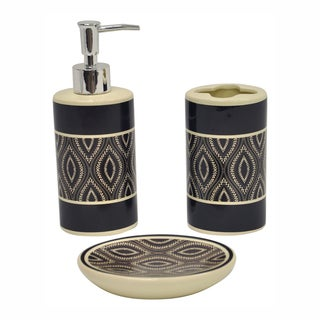Carino Espresso Bath Accessory 3-piece Set