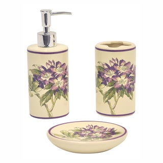 Fawn Hill Thistle Bath Accessory 3-piece Set