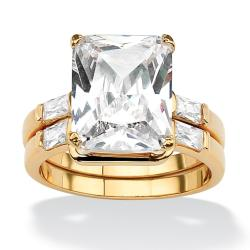 Ultimate CZ Goldplated Cubic Zirconia Ring Set