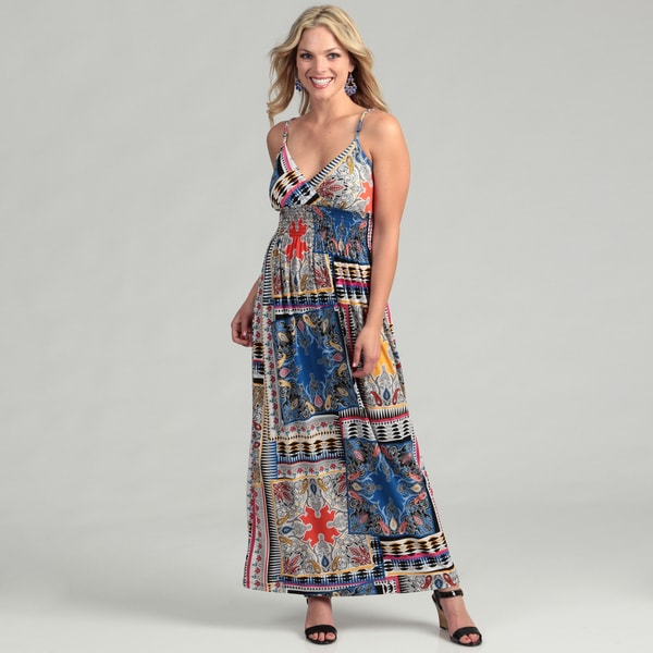 Emma & Michelle Women's Blue Maxi Dress