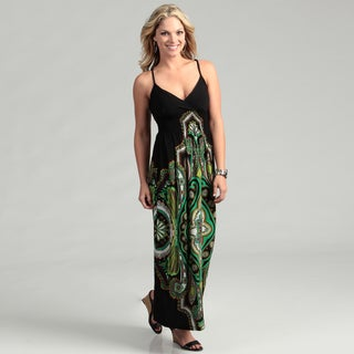 Emma & Michele Women's Medallion Print Maxi Dress
