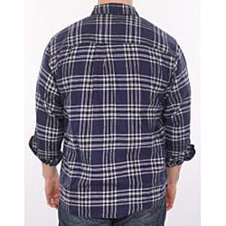 Farmall IH Men's Navy Plaid Flannel Shirt