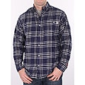 Farmall IH Men's Navy Plaid Flannel Shirt