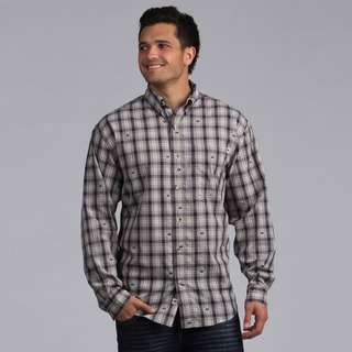 Farmall IH Men's Signature Grey Plaid Shirt