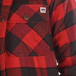 Farmall IH Men's Red Plaid Hooded Flannel Jacket