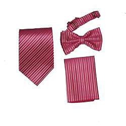 Ferrecci Pink Four-piece, Five-button Suit or Tux Vest Set for Men