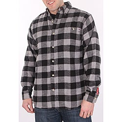 Farmall IH Men's Black Plaid Flannel Shirt