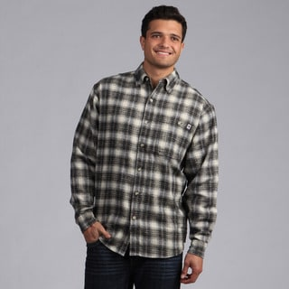 Farmall IH Men's Black/ Cream Plaid Flannel Shirt