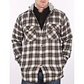 Farmall IH Men's Cream Plaid Hooded Flannel Jacket