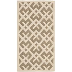 Poolside Brown/ Bone Indoor Outdoor Rug (2'7 x 5')