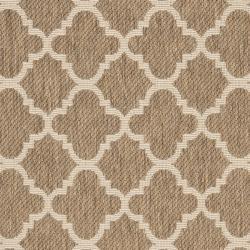 Poolside Brown/Bone Polypropylene Indoor/Outdoor Rug (2'7