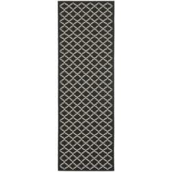 "Poolside Black/Beige Indoor/Outdoor Area Rug (2'4"" x 6'7"")"