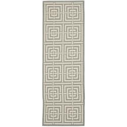 Poolside Grey/ Cream Indoor Outdoor Rug (2'4 x 6'7)