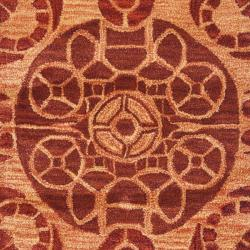 Handmade Treasures Cinnamon New Zealand Wool Rug (2'3 x 9')