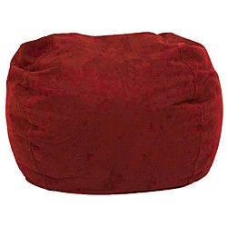BeanSack Ultra Cinnabar Red Microfiber Suede Lounge Bean Bag Chair