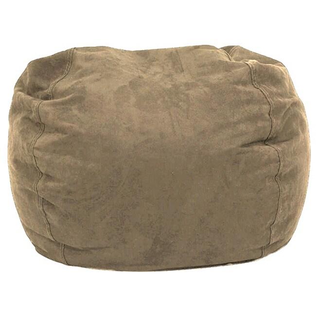 Overstock.com BeanSack Ultra Tan Microfiber Suede Bean Bag Chair at Sears.com