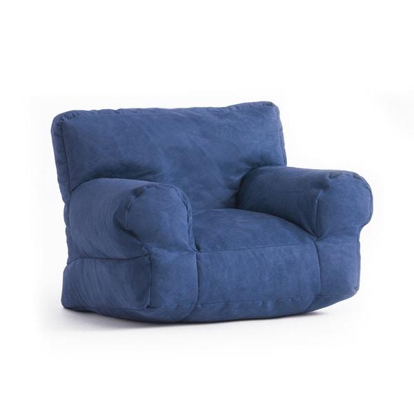 BeanSack Kid's Purple/ Blue Microfiber Bean Bag Club Chair