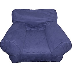 BeanSack Kid's Purple/ Blue Microfiber Bean Bag Club Chair