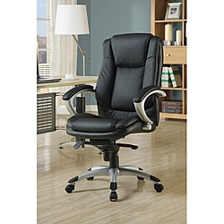 Black Faux Leather Deluxe Office Chair