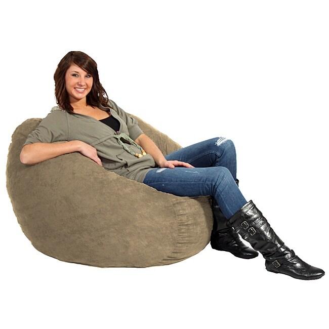 FufSack Tan Microfiber 3-foot Bean Bag Chair