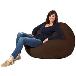 FufSack Chocolate Brown Microfiber 3-foot Bean Bag Chair