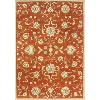Alliyah Handmade Rusty Orange New Zealand Blend Wool Rug (10' x 14')