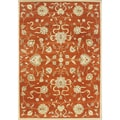 Alliyah Handmade Rusty Orange New Zealand Blend Wool Rug (10&#39; x 14&#39;)