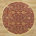 Alliyah Handmade Burgundy New Zealand Blend Wool Rug (6' Round)