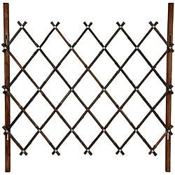 Walnut Diamond Bamboo 3-foot Fence (China)