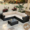 Christopher Knight Home Ventura PE Wicker 4-piece Outdoor Sectional
