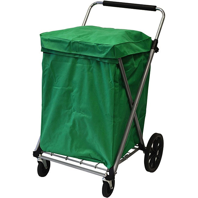 Easy Wheels Green Canvas Cart