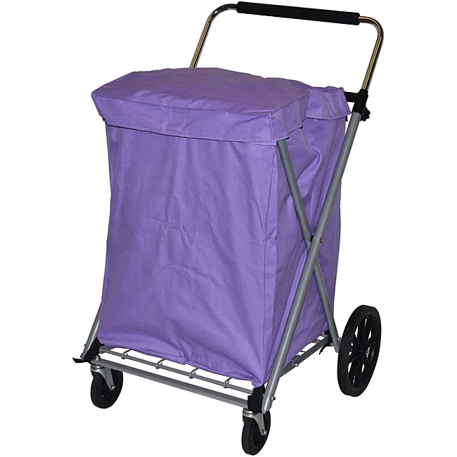 Easy Wheels Lilac Canvas Cart