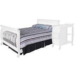 DaVinci White Kalani Crib and Changing Table with Toddler Rail