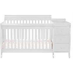 DaVinci White Kalani Crib and Changing Table with Toddler Rail