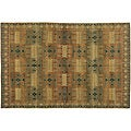 Gold 3' x 5' Inca Wool Rug (India)