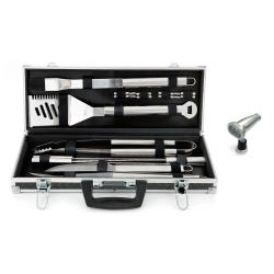 Mr. Bar-B-Q 18-piece Platinum Prestige Stainless Steel Grilling Tool Set with Magnetic Light