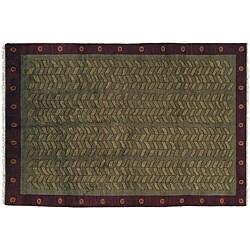 8' x 10' Kelp Wool Rug (India)