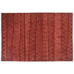 2'6 x 8' Ric Rac Wool Rug (India)