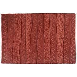 2' x 3' Ric Rac Wool Rug (India)