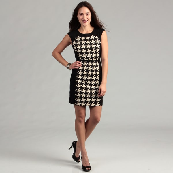 Jessica Howard Women's Brown/ Cream Printed Dress