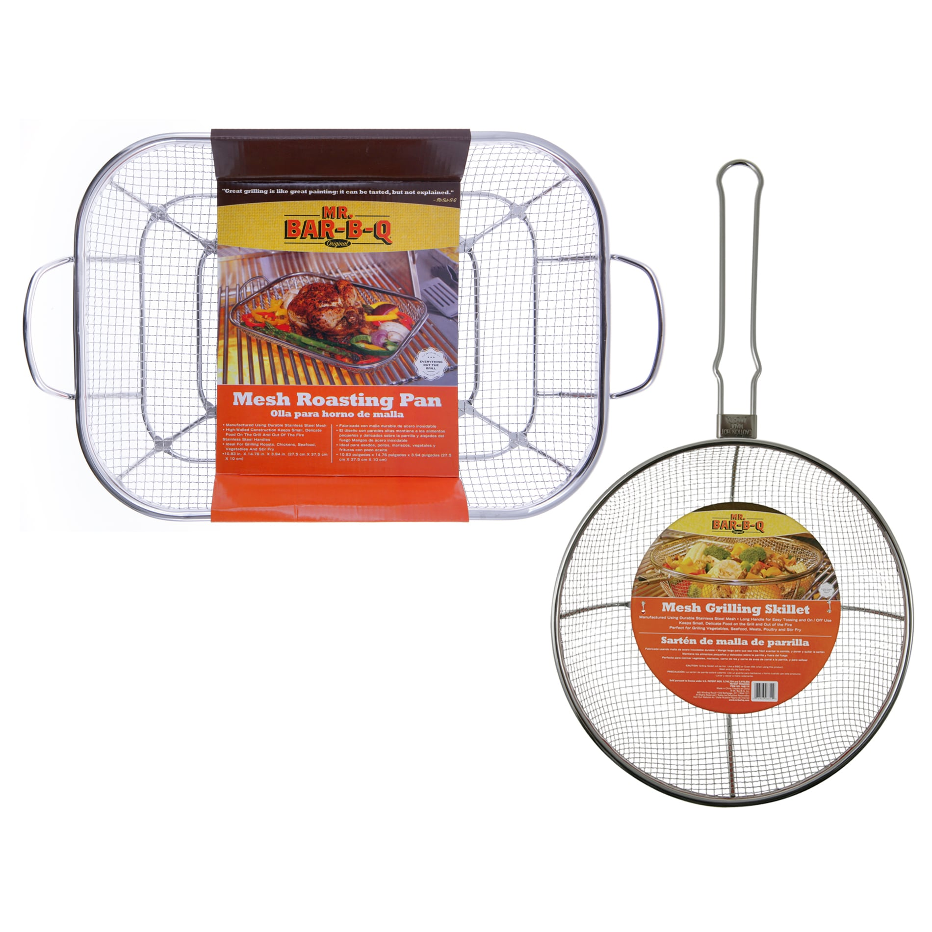 Mr. Bar-B-Q Stainless Steel Mesh Sautee and Roasting Combo Set