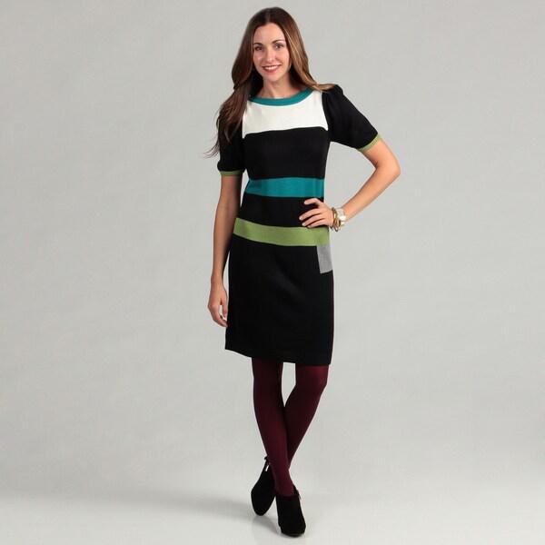 Jessica Howard Women's Colorblock Sweater Dress FINAL SALE