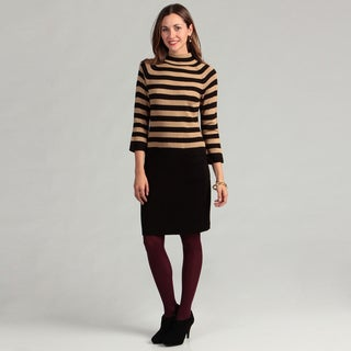 Calvin Klein Women&#39;s Striped Sweater Dress