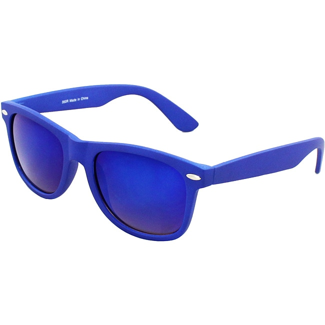 Unisex Blue Plastic Fashion Sunglasses