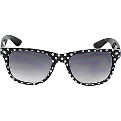 Women's Black/ White Polka-dot Fashion Sunglasses
